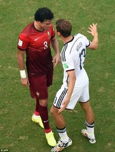 Pepe Fight Vs Muller  Germany Vs Portugal  World Cup 2014 - 16-06-14