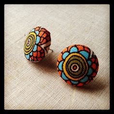 Design by Night: Scrap Fabric Post Earrings