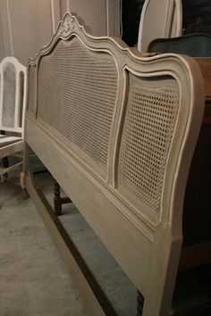 A couple of weeks ago, I finished this gorgeous, caned headboard for the same client that I painted these night stands for. She is cr...