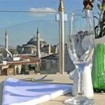 There is a beautiful roof garden cafeteria with a terrace for drinks and snacks. Discover the great views of Istanbul from here. At night, the city is colorfully lit and turned into a romantic city skyline. The hotel is conveniently located in the heart of the Sultanahmet. At walking distance, there are many historic attractions to see.