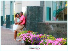 Waterside anniversary session, anniversary photo shoot, Downtown Norfolk, urban photo shoot, 1st anniversary, pink and teal, Fresh Look Photography