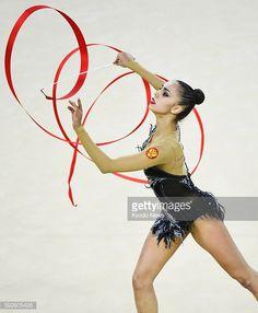 ニュース写真 : Russia's Margarita Mamun performs during the...