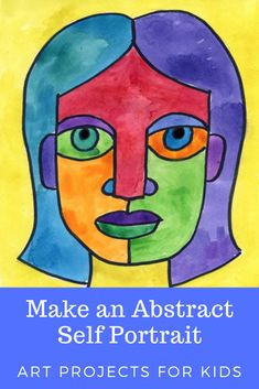 Abstract art roll & draw pages Draw an abstract self-portrait · Art projects for childrenDraw an abstract self-portrait · Art projects for childrenPiet Mondrian Abstract Art for Children - Simply Peasy and FunHow do I Self Portrait Kids, Picasso Self Portrait, Portraits For Kids, Self Portrait Drawing, Creative Self Portraits, Picasso Art, Abstract Portrait, Creative Art, Portrait Ideas