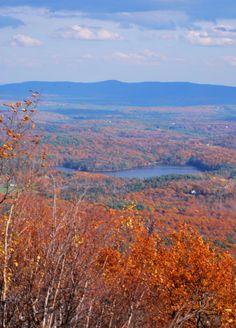 Mount Monadnock, New Hampshire looking down towards Keene I think