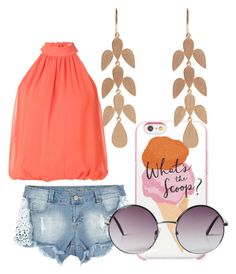 """""""Untitled #684"""" by jaimie-lynn-1 ❤ liked on Polyvore featuring Kate Spade, Alice + Olivia, Irene Neuwirth and Monki"""