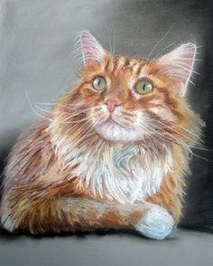 Custom Cat Portraits Pastel Painting 9x12 Great by digsandthreads,