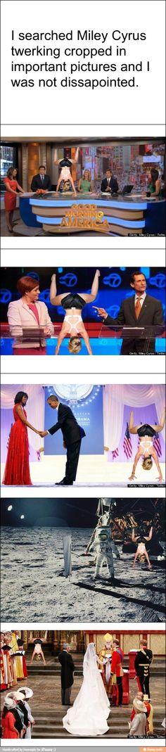 Miley Cyrus twerking appropriately