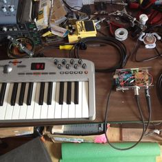 """MIDI in circuit -> Arduino -> Orgasmatronics Hack Off -> 3v Vibrator ((((through the air)))) EMG-HZ passive bass pickups -> '79 Fender Silverface Champ guitar amplifier -> 10"""" Weber Speaker Used for music performances with my wife. <a href=""""http://www.thisismywife.com"""" target=""""_blank"""">www.thisismywife.com</a>"""