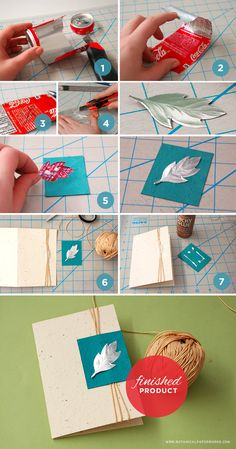 How to make an up-cycled Pop Can Card, made with a pop can and regular crafting tools. Great for Earth Day!