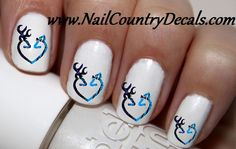 50 pc Blue On Blue DBL Deer Love Buck n Doe Nail Decals Nail Art Nail Stickers Best Price NC1457