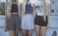 brandy melville. skater skirts. crop tops. black high waisted jean shorts. graphic tee.
