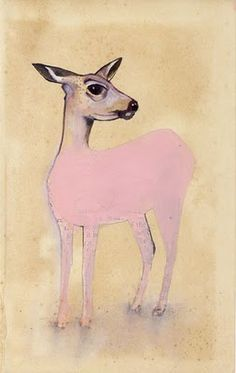 """a deer""  I want to paint more simple stuff and just keep posting. it was my new years resolution and I haven't done it."