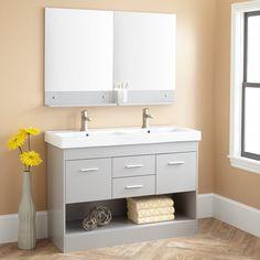 "48"" Morrow Double Vanity with Mirrors - Gray"