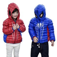 Special price 2016 Autumn Winter Children Down Jacket Fashion Hooded Short Coat Spiderman Thin Girl Down Coat And Jacket Boy Red Blue just only $21.74 - 22.80 with free shipping worldwide  #boysclothing Plese click on picture to see our special price for you