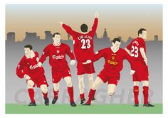 Jamie Carragher Liverpool FC Football Print by MarkMcKenny on Etsy