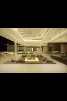 Modern Contemporary Outdoor Open Seating Space living room