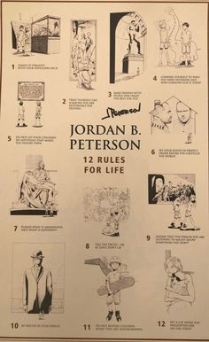 Jordan Peterson 12 rules of life Zach Davis rec Jordan B, Jordan Peterson, Life Poster, Rules For Life, Life Motivation, Inspirational Quotes, Motivational Quotes, Wisdom Quotes, Self Help