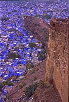 The blue city, Jodhpur, Rajasthan, India.