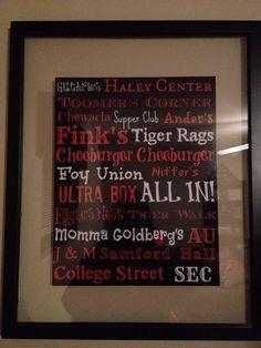 Auburn Traditions/Landmarks Subway Art