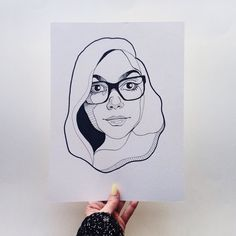 #HeyCreativeWomen this is Alexis Winter  illustrator from Australia. Her black and white portraits are just awesome. She also creates cool lettering pins and Simpson's inspired illustrations. Do yourself a favor and check out her work  alexiswinter.com  @alexiswinter. // This is portrait no. 4 in the #HeyCreativeWomen project  the goal is to celebrate the work of other creative women to promote community over competition. Supporting and celebrating the work of other women doesn't make us…