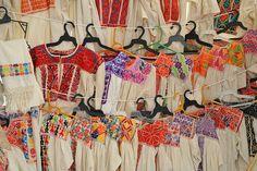 Coatlan Oaxaca Blouses Mexico A selection of fine cross stitched blouses from the Zapotec community of San Vicente Coatlan, Ejutla, Oaxaca, Mexico.
