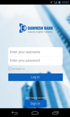 UI design for a mobile banking app