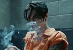 Image about smoke in ♥Black Veil Brides ♥ by Fashion👠💕 Andy Black, Andy Biersack, Black Veil Brides Andy, Beautiful Boys, Pretty Boys, Bad Boy Aesthetic, Poses References, American, Cute Guys