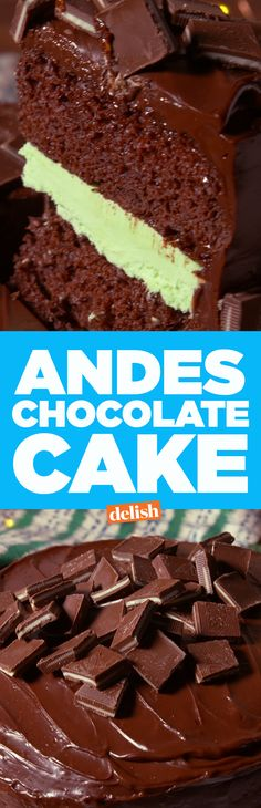 Andes Mints lovers will want this chocolate cake instead of birthday cake. Get the recipe on Delish.com.