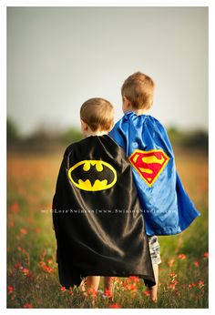 Incorporate things they love! - Superman and Batman superhero Halloween Costumes and dress up by Lora Swinson LoraLee