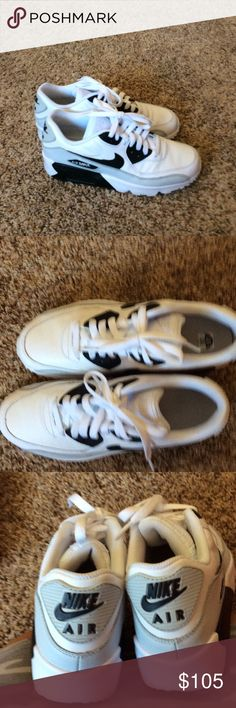 buy online a8ae1 6d64d Nike s tennis shoes The shoes have been worn once they re awesome they re  the Nike air max women s size 7 black gray and white.