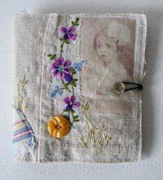 Handmade NEEDLECASE  celebrating texture and very old patchwork and hand embroidery
