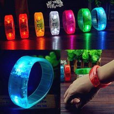 Voice Control LED Light Glows Wristbands Bracelet Bangle For Party Rave Concert - FG-Mall.com