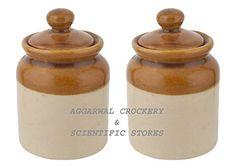 Aggarwal Crockery & Scientific Stores Pickle Jar, Set Of 2 Pieces