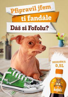 Kofola meruňková: Dáš si Fofolu? | Národní galerie reklamy Good Jokes, Funny Jokes, Tuna Dog, Animals And Pets, Cute Animals, Dog Photography, My Hero, Me Quotes, Pup