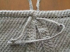 Free Crochet Pattern: Boho Backpack Purse - This easy to make casual tote can be worn as a backpack or over one shoulder like a purse