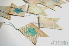 Érase una vez Bodas y Eventos: DIY: guirnalda de papel de periódico
