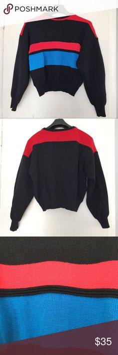 70s vibe color-block 100% wool Italy sweater A beautiful color block sweater from SavileRow. Made in Italy, 100% Wool. Size medium slouchy fit. Small imperfections on the back of left sleeve as shown, hardly noticeable. Overall good condition. Savile Row Sweaters Crew & Scoop Necks