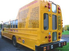 """Forty School Buses that are indeed """"too cool for school"""" - Pimp My School Bus School Bus House, Old School Bus, School Bus Driver, School Humor, School Buses, Funny School, School Days, Big Rig Trucks, Old Trucks"""