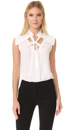 Yigal Azrouel Center Front Tie Top so cute but $695 is a bit much for a shirt