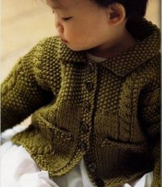 Debbie Bliss The Baby Knits Book - Cable and Moss Stitch Jacket Pattern Requirements