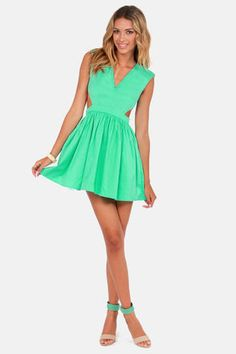 Cute Mint Green Dress #cutouts #mint #LuLus