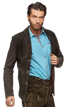 21f58d7f70de85 German leather jacket Xaver German Outfit, Deer Skin, Lederhosen, Leather  Trousers, Leather