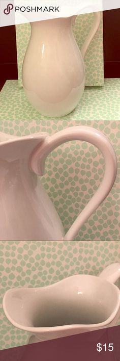 Threshold Porcelain Pitcher. Threshold Porcelain Pitcher. Never Used. Has a small mark on the back side from my last move. Threshold Other