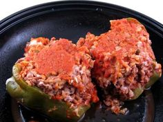 Crock Pot Stuffed Bell Peppers Recipe...just meat and veggies
