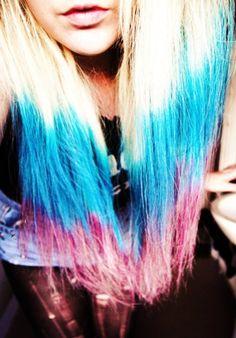Colourful hair!