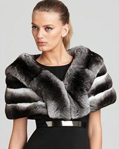 Maximilian Furs Maximilian 10 Chinchilla Cape with Horizontal Body Chinchilla Fur Coat, Fur Coat Fashion, Fur Cape, Fabulous Furs, Fur Stole, Fall Wardrobe, Women Wear, Sexy Women, Street Style