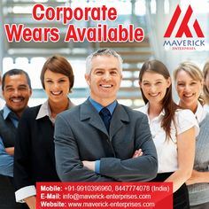 At Maverick Enterprises, we believe in providing clothing & wearables that truly reflect what your company or organization stands for. What's more, we can provide you clothing and accessories that are fully customized and within your budget. Contact us for more details +91-9910396960, 8447774078 (India) +971-564610928, 565431631 (UAE) Email : info@maverick-enterprises.com Visit : www.maverick-enterprises.com