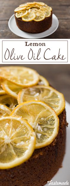 Mix up your lemon cake routine by replacing butter with yummy olive oil.