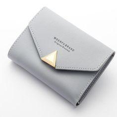 Baellerry Women's Wallet Short Buckle Design Women Purses Small Wallet PU Leather Mini Purse Coin Purse Card Holder