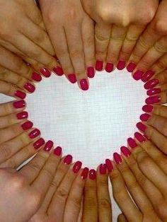 Heart matching nails, so should do that with friends.